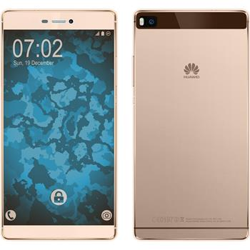 Silicone Case for Huawei P8 360° Fullbody gold