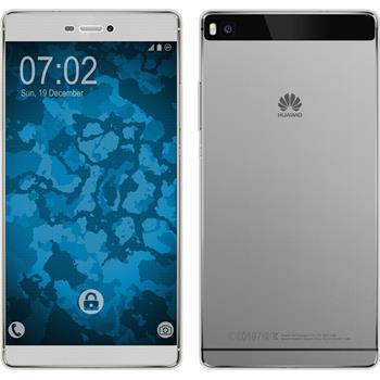 Silicone Case for Huawei P8 360° Fullbody gray