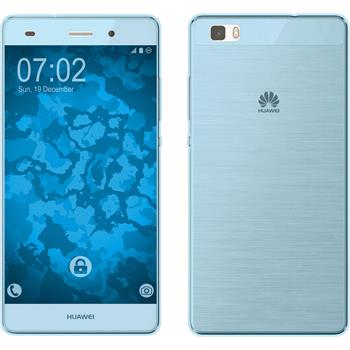 Silicone Case for Huawei P8 Lite 360° Fullbody light blue