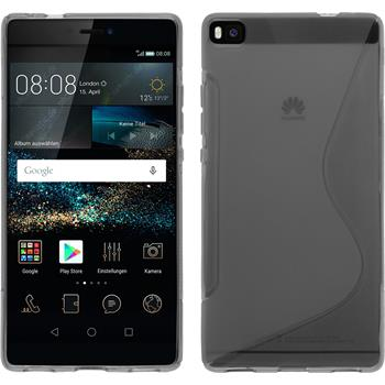 Silicone Case for Huawei P8 S-Style gray