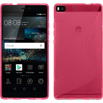 Silicone Case for Huawei P8 S-Style hot pink