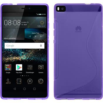 Silicone Case for Huawei P8 S-Style purple