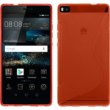 Silicone Case for Huawei P8 S-Style red