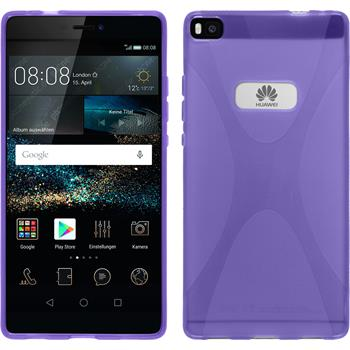 Silicone Case for Huawei P8 X-Style purple
