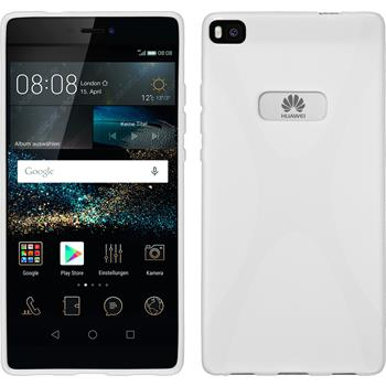 Silicone Case for Huawei P8 X-Style white