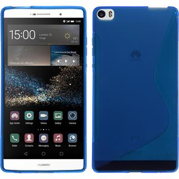 Silicone Case for Huawei P8max S-Style blue