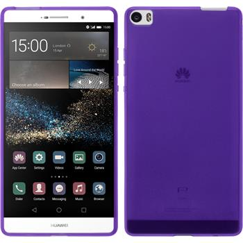 Silicone Case for Huawei P8max transparent purple