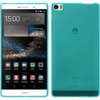 Silicone Case for Huawei P8max transparent turquoise