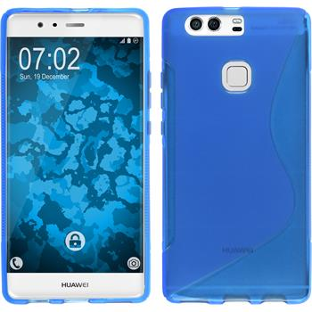 Silicone Case for Huawei P9 Plus S-Style blue