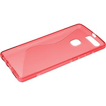 Silicone Case for Huawei P9 Plus S-Style red