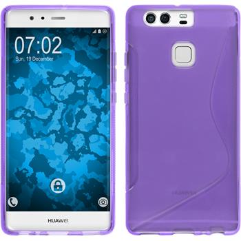 Silicone Case for Huawei P9 S-Style purple
