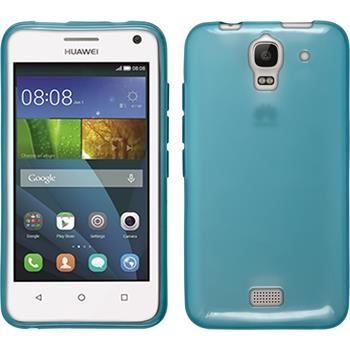 Silicone Case for Huawei Y360 transparent turquoise