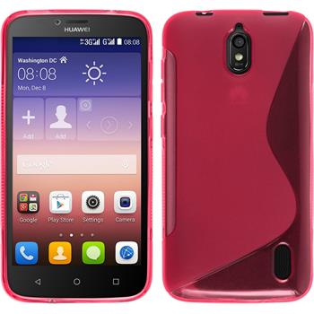 Silicone Case for Huawei Y625 S-Style hot pink