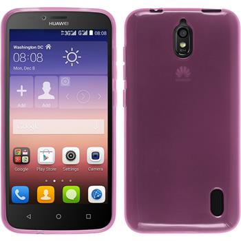 Silicone Case for Huawei Y625 transparent pink