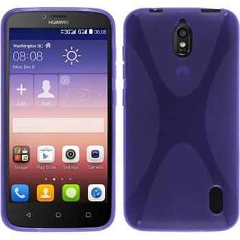 Silicone Case for Huawei Y625 X-Style purple