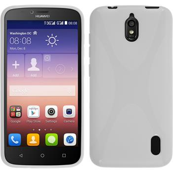 Silicone Case for Huawei Y625 X-Style white