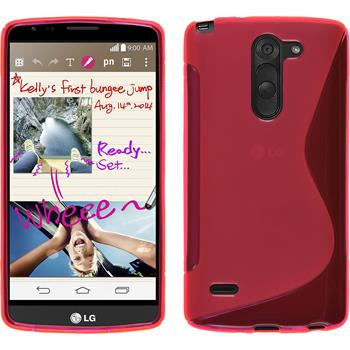 Silicone Case for LG G3 Stylus S-Style hot pink