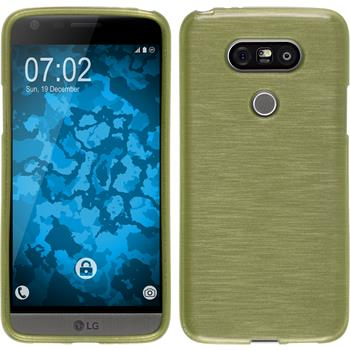 Silicone Case for LG G5 brushed pastel green