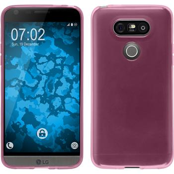Silicone Case for LG G5 transparent pink