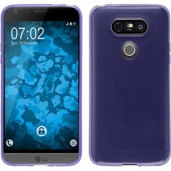 Silicone Case for LG G5 transparent purple