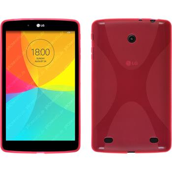 Silicone Case for LG G Pad 8.0 X-Style hot pink