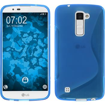 Silicone Case for LG K10 S-Style blue