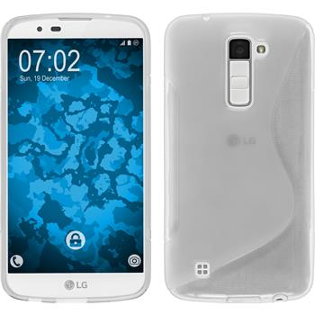 Silicone Case for LG K10 S-Style transparent