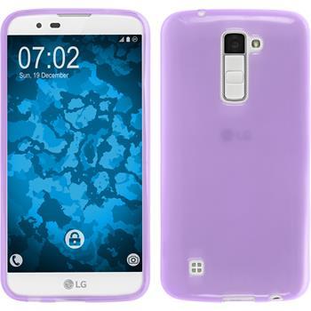 Silicone Case for LG K10 transparent purple