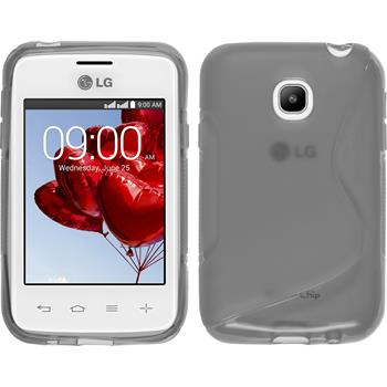 Silicone Case for LG L20 S-Style gray