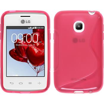 Silicone Case for LG L20 S-Style hot pink