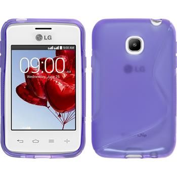 Silicone Case for LG L20 S-Style purple