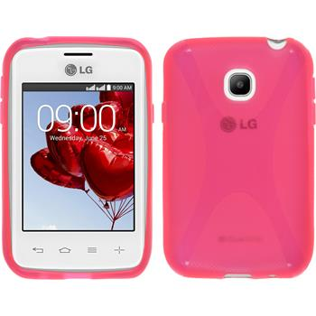 Silicone Case for LG L20 X-Style hot pink