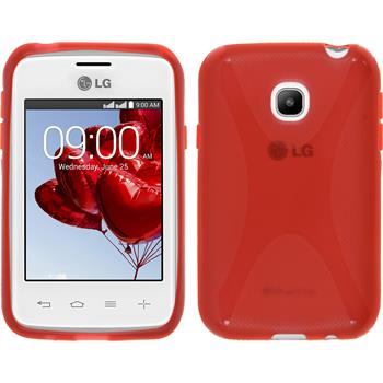 Silicone Case for LG L20 X-Style red