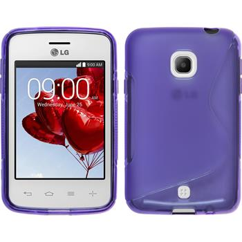 Silicone Case for LG L30 S-Style purple