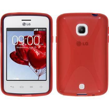 Silicone Case for LG L30 X-Style red
