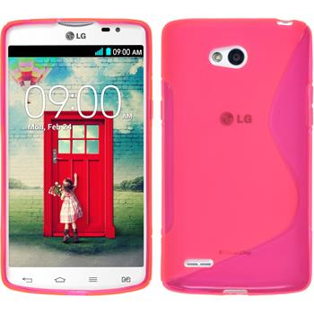 Silicone Case for LG L80 Dual S-Style hot pink