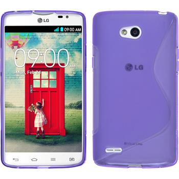Silicone Case for LG L80 Dual S-Style purple