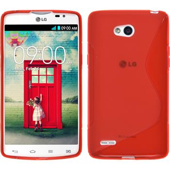 Silicone Case for LG L80 Dual S-Style red