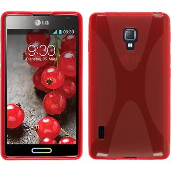Silicone Case for LG Optimus L7 II X-Style red