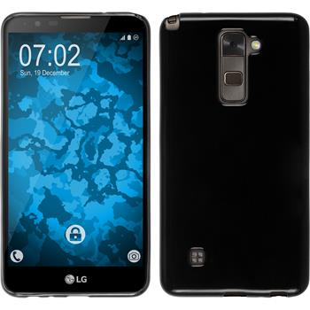 Silicone Case for LG Stylus 2 crystal-case black