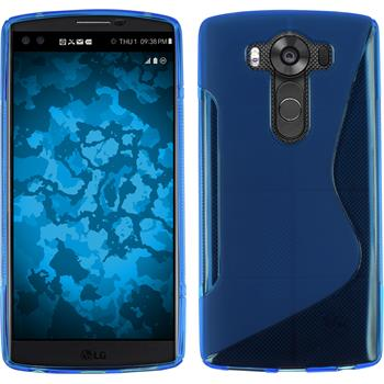 Silicone Case for LG V10 S-Style blue