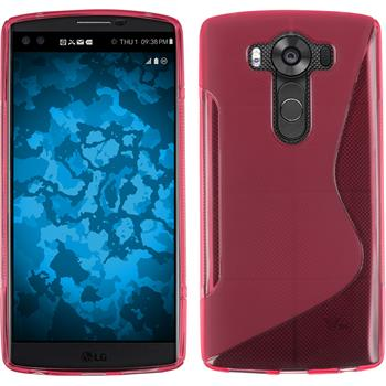 Silicone Case for LG V10 S-Style hot pink