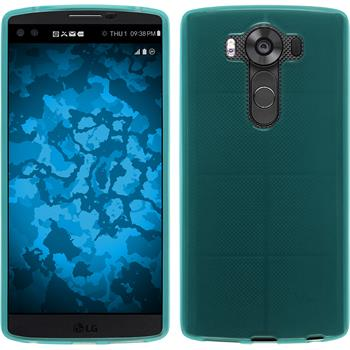 Silicone Case for LG V10 transparent turquoise