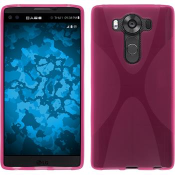 Silicone Case for LG V10 X-Style hot pink