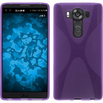 Silicone Case for LG V10 X-Style purple