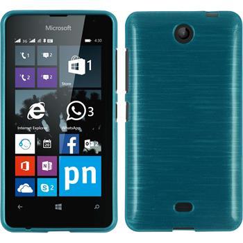 Silicone Case for Microsoft Lumia 430 Dual brushed blue