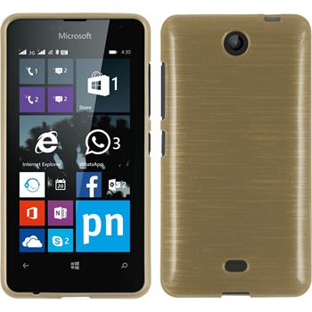 Silicone Case for Microsoft Lumia 430 Dual brushed gold