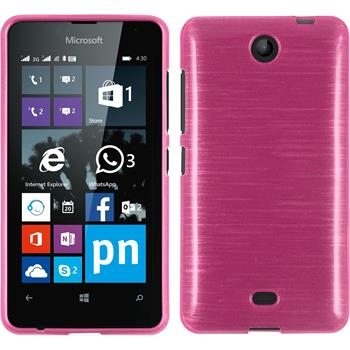 Silicone Case for Microsoft Lumia 430 Dual brushed hot pink