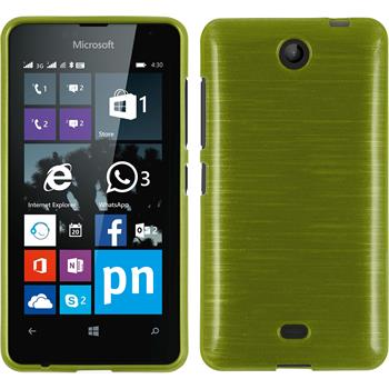 Silicone Case for Microsoft Lumia 430 Dual brushed pastel green