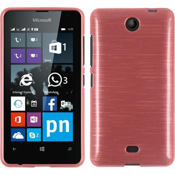 Silicone Case for Microsoft Lumia 430 Dual brushed pink